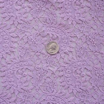Mauve Stretch Lace Fabric