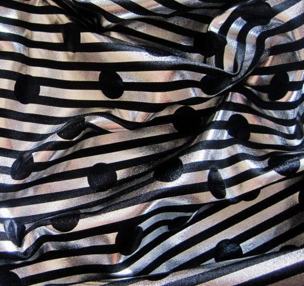 METALLIC STRIPES AND DOTS FABRIC