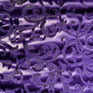 Purple Embossed Velvet Fabric - Foil Covered Stretch Velvet Fabric By The Yard - Solid Stone Fabrics, Inc.