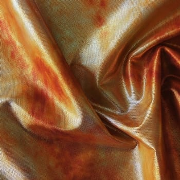 Orange Tie Dye Stretch Mesh Fabric