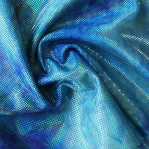 Blue Tie Dyed Stretch Fabric