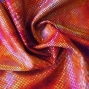 Red Tie Dye Stretch Fabric