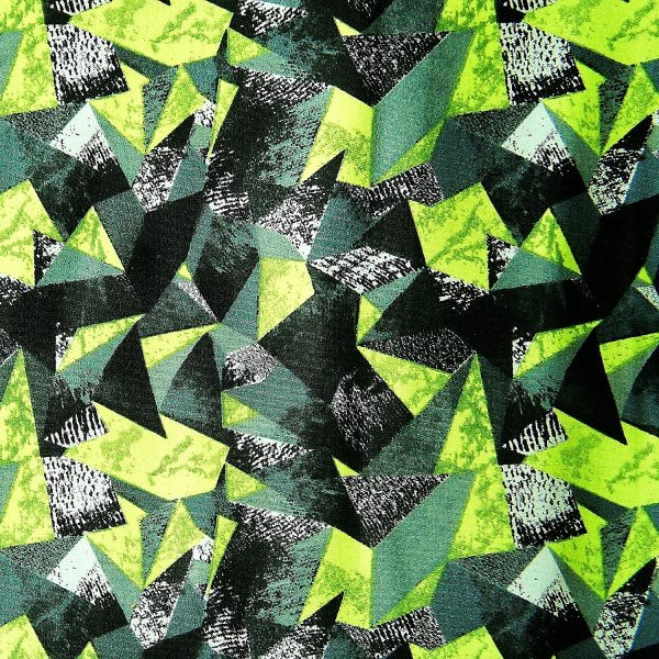 Lime Geometric Print Fabric