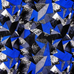 BLUE GEOMETRIC PRINT FABRIC - SOLID STONE FABRICS, INC. - ONLINE FABRIC STORE