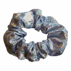 Silver Shattered Glass Scrunchie