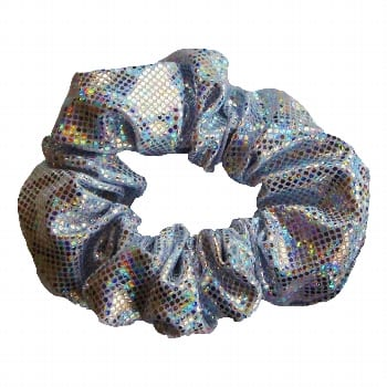 Scrunchie – Silver/White Shattered Glass