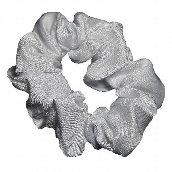 Scrunchie – Metallic Sheen – Clear / White