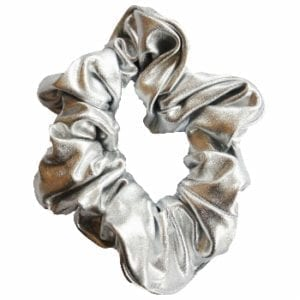 Silver Metallic Hair Scrunchie