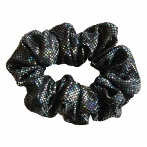 Black Shattered Glass Scrunchie