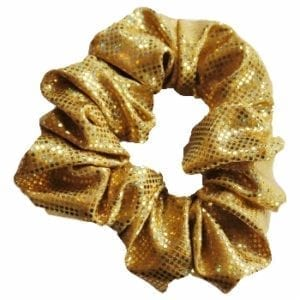 Gold Shattered Glass Scrunchie