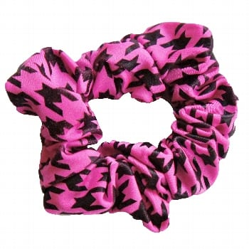 Scrunchie – Houndstooth – Berry / Black