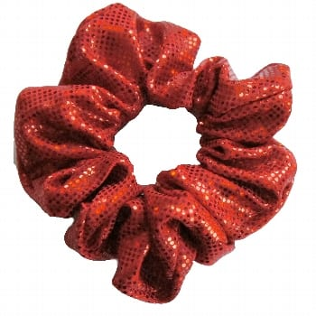Red Shattered Glass Scrunchie