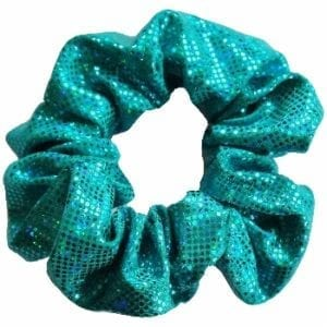 Teal Hologram Hair Scrunchie - Made In The USA