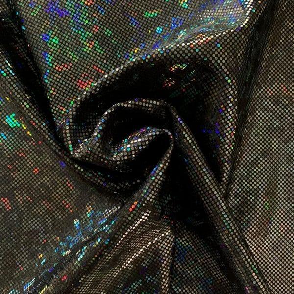 Black Broken Glass Fabric - SOLID STONE FABRICS, INC.