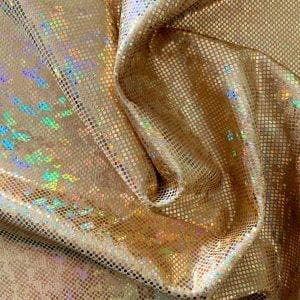 Gold Broken Glass Fabric - SOLID STONE FABRICS, INC.
