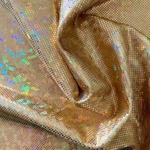 Gold Broken Glass Fabric - SOLID STONE FABRICS, INC.