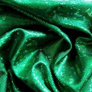 Kelly Green Broken Glass Fabric