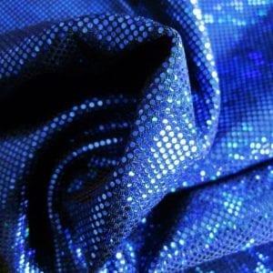 Royal Blue Broken Glass Fabric