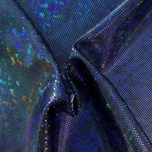 Royal Blue Broken Glass Fabric - SOLID STONE FABRICS, INC.