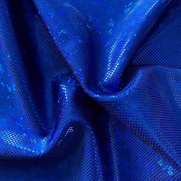 Royal Blue Shattered Glass Fabric - SOLID STONE FABRICS, INC.