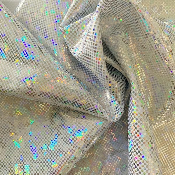 Silver Shattered Glass Fabric