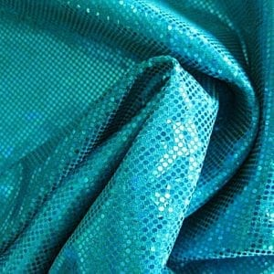 Teal Shattered Glass Fabric