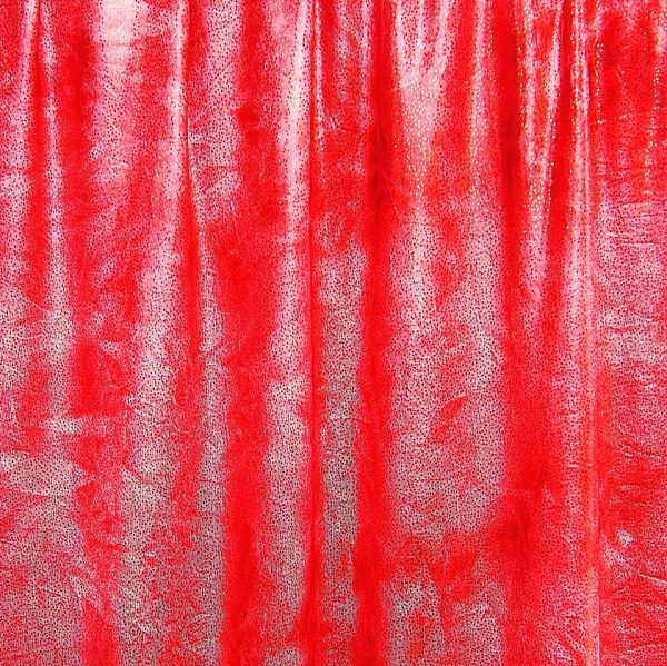 Spectacular - Red Glitter Tie Dye features tie dye stretch fabric topped with silver foil glitter for brilliant sparkle and shine.