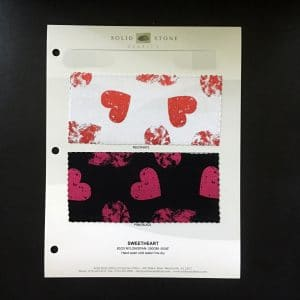 FOIL HEART FABRIC SWATCHES