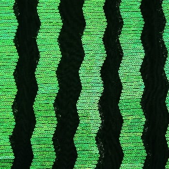 Zig Zag Sequin Mesh – Green/Black