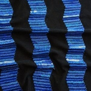 Blue Sequin Mesh Fabric