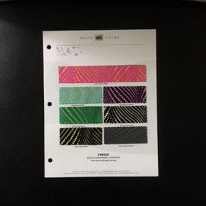 Holographic Foil Dot Fabric Swatches / Color Card - SOLID STONE FABRICS, INC.