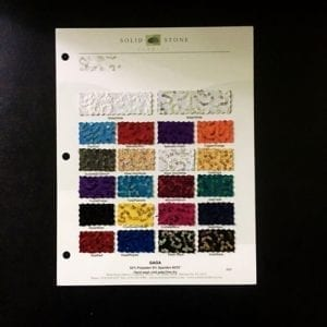 GaGa 3mm Swirl Sequin Fabric Swatch Card - All Colors