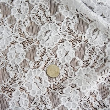 White Wide Width Lace Fabric