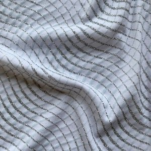 White Glitter Knit Fabric