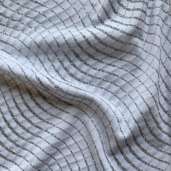 White Glitter Knit Fabric