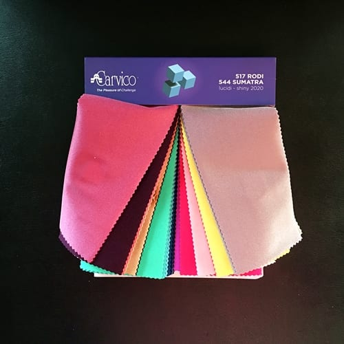 Shiny Nylon Lycra Fabric Swatches