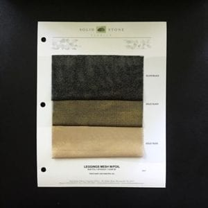Metallic Fishnet Fabric Swatches / Color card