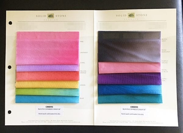 Ombre Mesh Fabric Swatches - SOLID STONE FABRICS, INC.