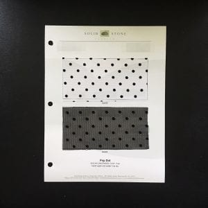 Flocked Polka Dot Mesh Swatches / Color card - SOLID STONE FABRICS, INC.