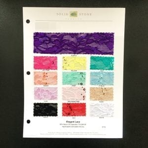 Elegant Lace Fabric Swatches