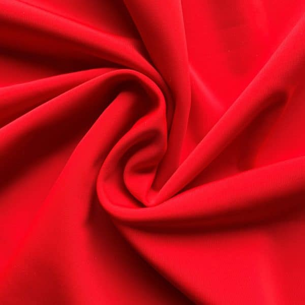 Matte Red Luxury Swimwear Fabric