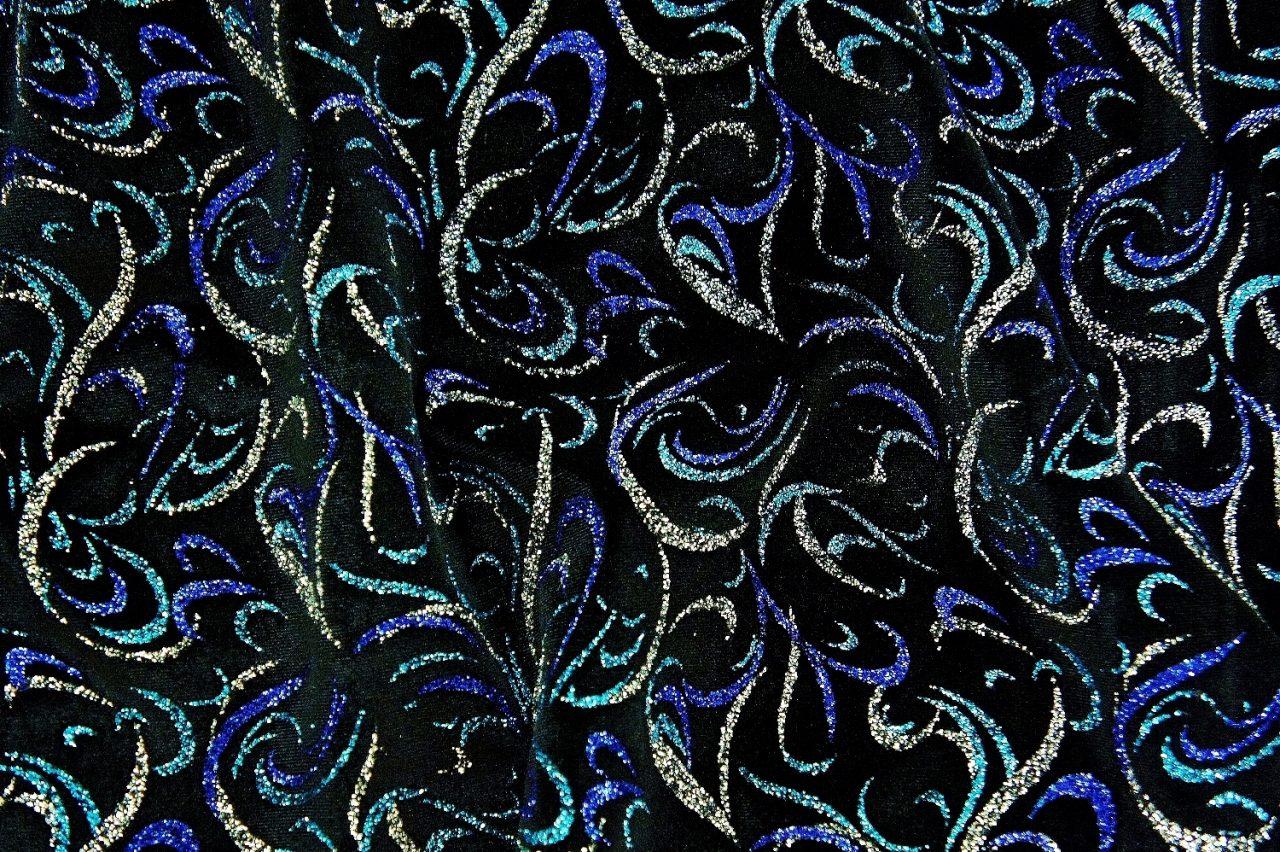 Fandango Velvet – Blue