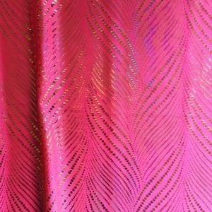 Pink Holographic Foil Fabric - SOLID STONE FABRICS, INC.