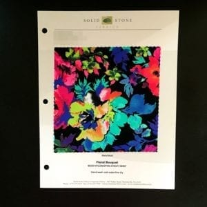 FLORAL BOUQUET COLOR CARD FABRIC SWATCH FABRIC ONLINE