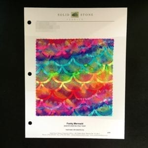 FUNKY MERMAID RAINBOW HOLOGRAM STRETCH FABRIC BY THE YARD FABRIC SWATCH FABRIC COLOR CARD