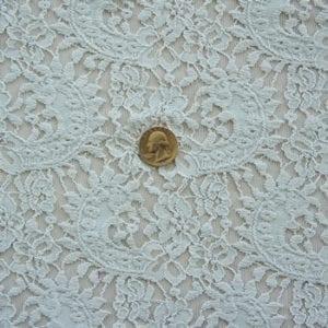 Light Blue Stretch Lace Fabric