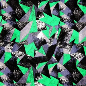 Kelly Green Geometric Fabric