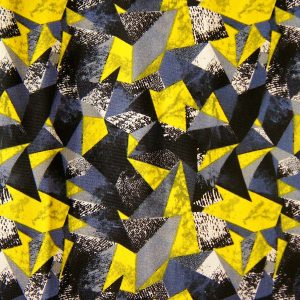 YELLOW TRIANGLE PRINT FABRIC