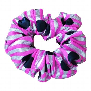 Polka Dot Stripe Scrunchie