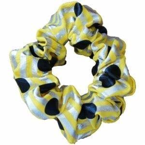 Yellow Metallic Hair Scrunchie